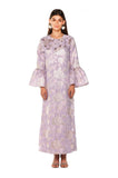 Purple Metallic Camelia Kaftan
