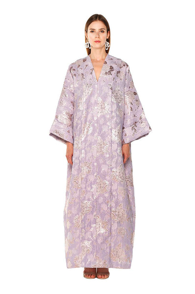 Purple Metallic Petunia Kaftan