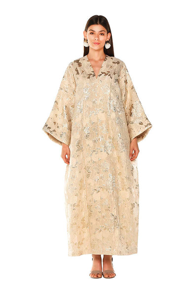 Yellow Metallic Petunia Kaftan