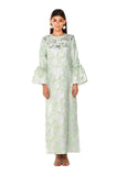 Green Metallic Camelia Kaftan