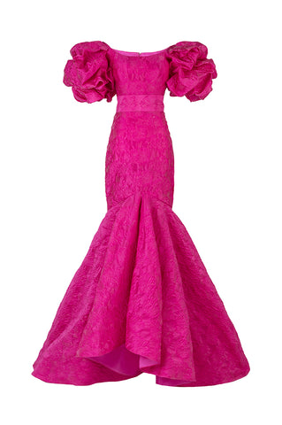 Magenta Mermaid Gown