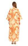 ORANGE FLORAL ISABELLA KAFTAN