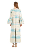 ZEYNAB STRIPED CAMELIA KAFTAN