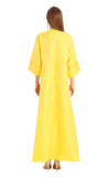 YELLOW BROCADE ROSA KAFTAN