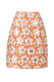 Orange Daisy Mini Skirt