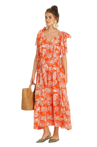 ORANGE TRIANGLE SUMMER DRESS