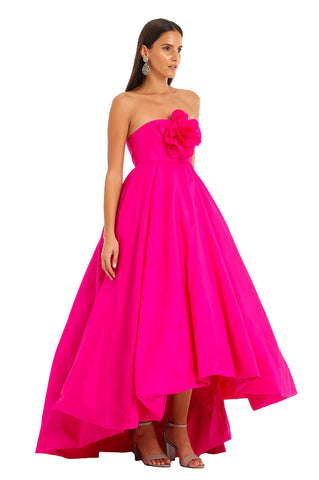 FUCHSIA FLOWER BUBBLE GOWN