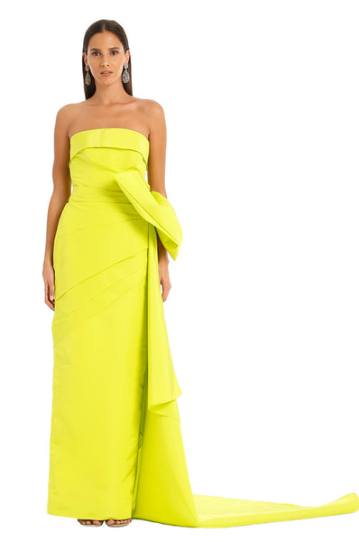 LIME FAILLE SONA GOWN