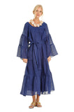 NAVY TROPICAL KAFTAN