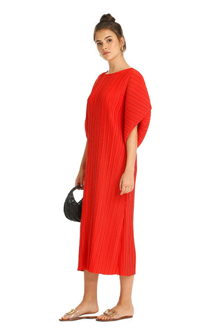 RED PLAYA MIDI KAFTAN
