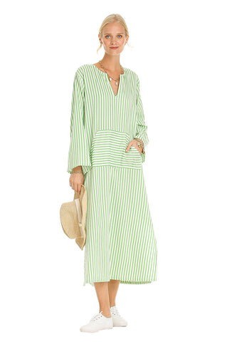 GREEN STRIPED SILOS KAFTAN