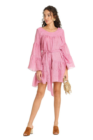 PINK TROPICAL MINI KAFTAN