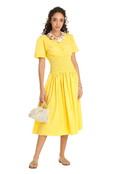 Yellow Poplin Dress
