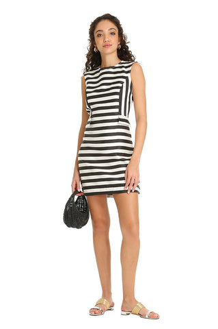 ARAYAS STRIPED MINI DRESS
