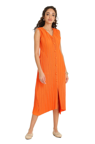 ORANGE PLAYA SLEEVELESS KAFTAN