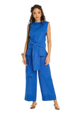 ROYAL BLUE LINEN PANTS