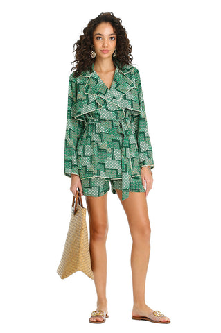 GREEN TRENCH SHORTS