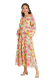 PINK SUNFLOWER COTTON KAFTAN