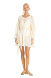 White Feliz Mini Kaftan