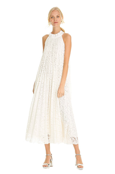 WHITE LACE TENT DRESS