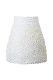 White Confetti Skirt