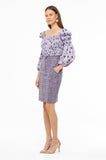 Purple Polka Elasticized Top