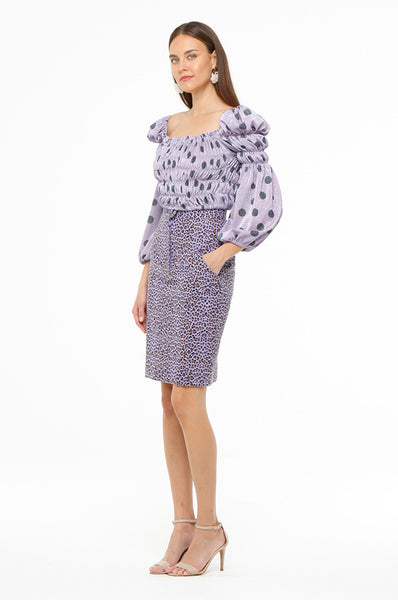 Purple Leopard Skirt