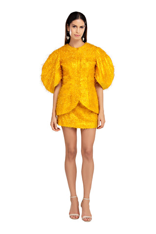 Yellow Violeta Circle Tunic