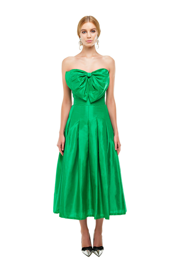 Green Kelly Bow Bustier