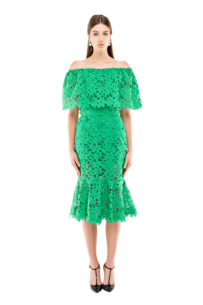 Green Lace Mermaid Skirt