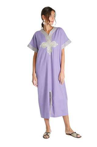 Purple Sina Kaftan