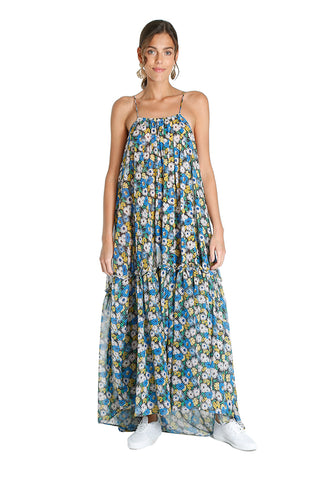 Blue Floral Raha Dress
