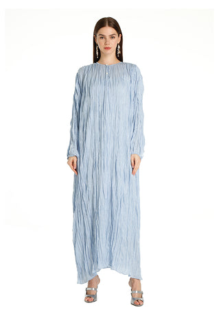 Blue Alice Pleated Kaftan