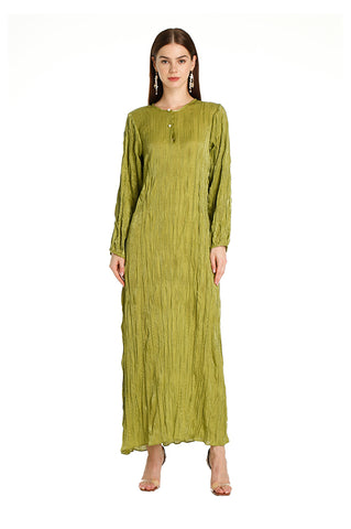 Olive Alice Pleated Kaftan