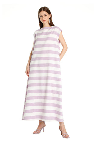 Purple Striped Leila Kaftan