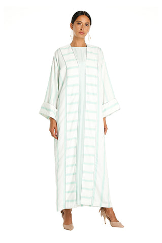Teal Striped Isabella Kaftan
