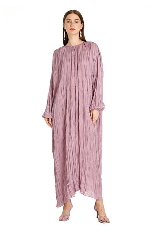 Pink Alice Pleated Kaftan
