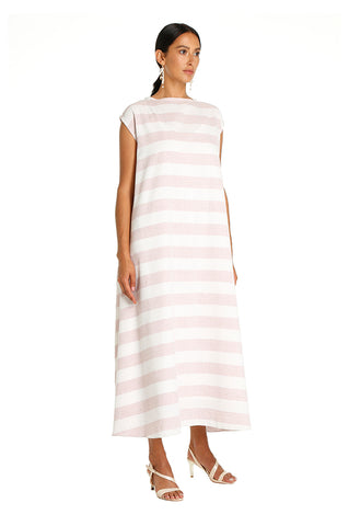Pink Striped Leila Kaftan