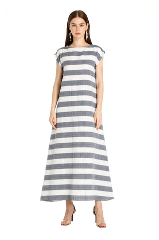 Charcoal Striped Leila Kaftan