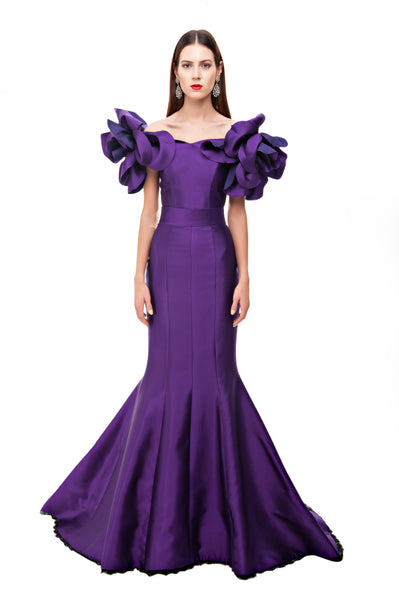 Purple Valentina Mermaid Gown