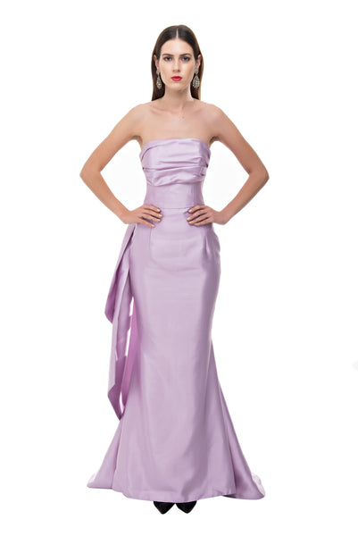 Lavender Back Bow Gown