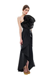 Black Organza Flower Tube