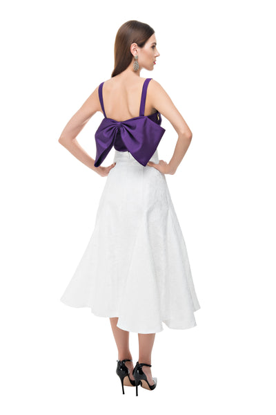 Purple Back Bow Bustier