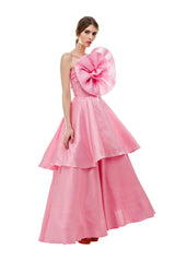 Pink Rose Cinderella Ruffle Gown