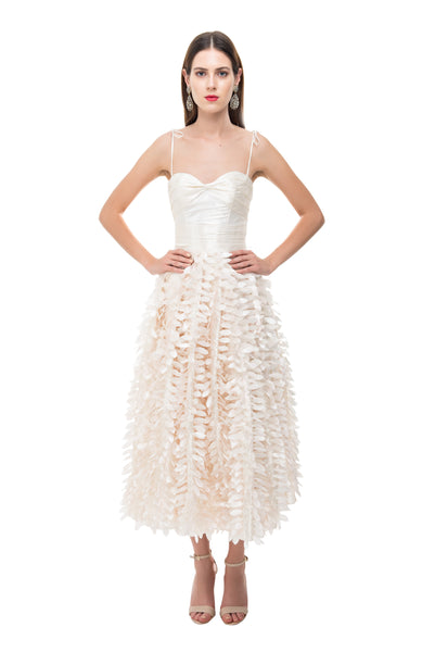 Pearl Feather Sweetheart Dress