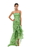 Green Polka Flamenco Gown