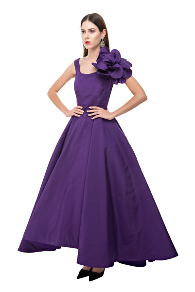 Purple Cinderella Flower Gown