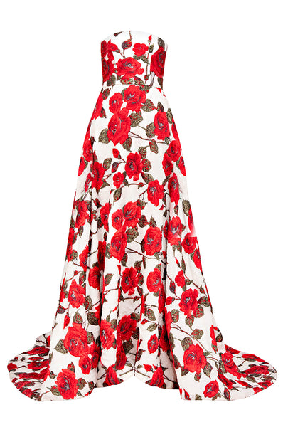 Rojo Floral Princess Gown