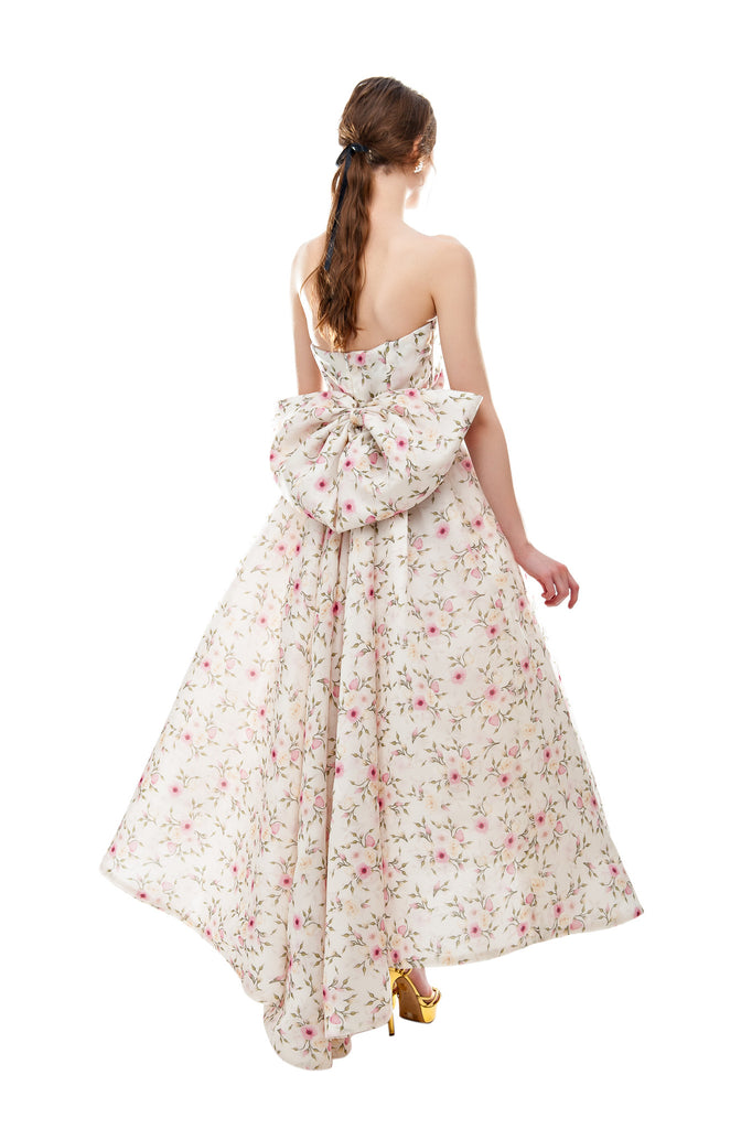 Rose Bud Silk Sweetheart Gown