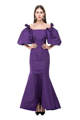 Purple Balloon Gown